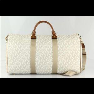 Michael Kors Vanilla Monogram Duffle Bag